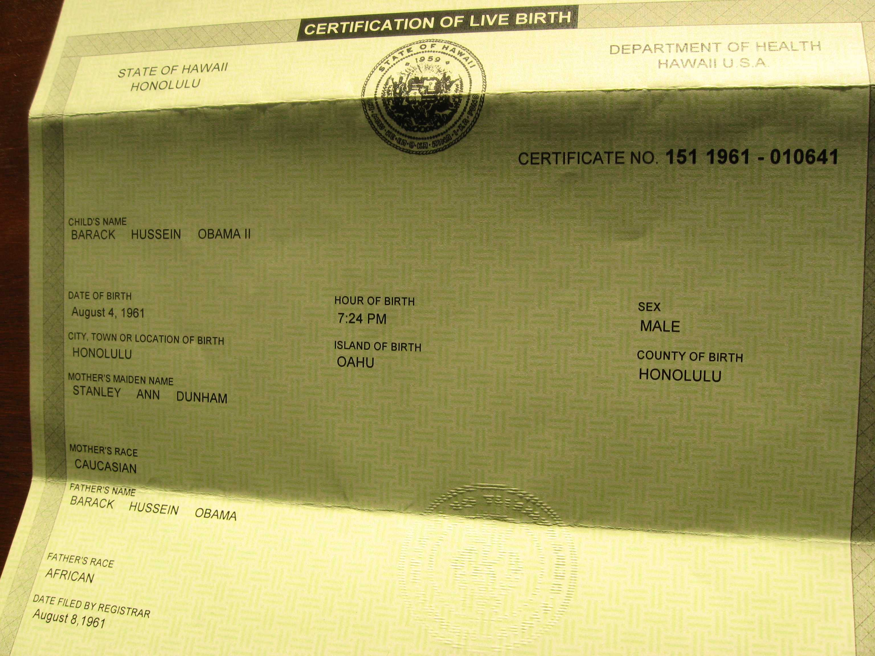 President releases birth certificate by anthonyt aiddatafo Images
